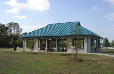 steelcase shelter at Fletcher Community Park